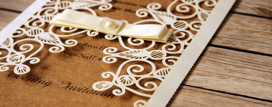 Luxurious Wedding cards with delicate design